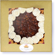 Chocolate Pecan Ganache Pie in box